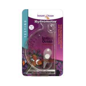 Test your aquarium with more reliability when you use the Instant Ocean® Saltwater Aquarium Salinity Hydrometer.
