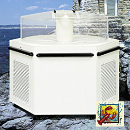 Shop Marineland round or hexagonal seafood tank systems for a great lobster, trout or catfish tank.