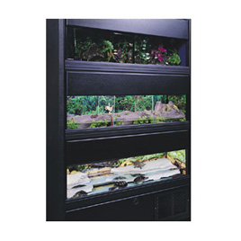 Our reptile and turtle display systems provide the perfect habitat animal display.
