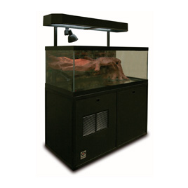 This retail aquarium can function as a koi tank or turtle display - you choose!