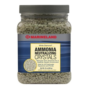 Remove ammonia from your aquarium with our White Diamond ammonia neutralizing crystals. Look for it in our filter media section.