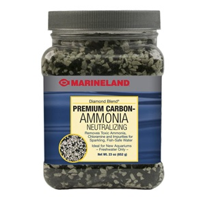 Try our Diamond Blend aquarium carbon and ammonia neutralizing crystals. Look for it in our filter media section.