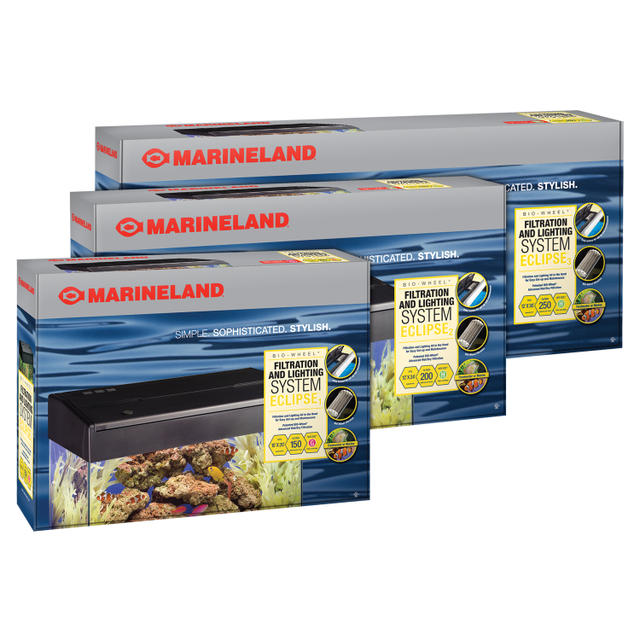 Look no further for your aquarium filters! This Marineland aquarium filter also includes an aquarium hood with light for added value.
