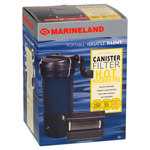 Experience the benefits of a new aquarium filter; Marineland offers canister filters and hang on tank filters.
