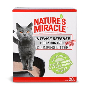 Nature's Miracle Intense Defense Fragrance Free Odor Control Clumping Litter - 20lbs