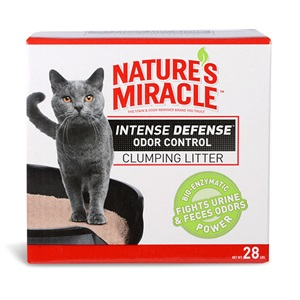 Nature's Miracle Intense Defense Odor Control Clumping Litter - 28lbs