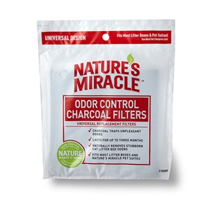 For continuous odor control, try these universal charcoal litter box filters from Nature's Miracle.