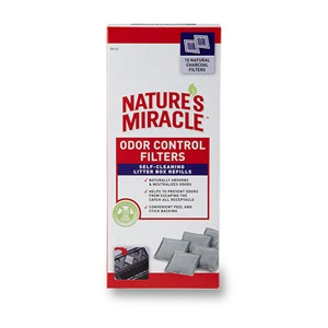 Keep your Nature's Miracle Automatic Litter Box smelling fresh with these odor control receptacle filters.