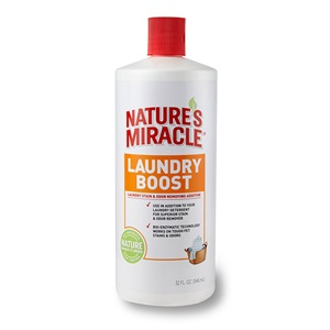 Try our Laundry Boost Pet Stain & Odor Remover Additive for machine washable items!