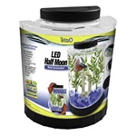 LED Half Moon Betta Fish Tank Kit - 1.1 Gallon