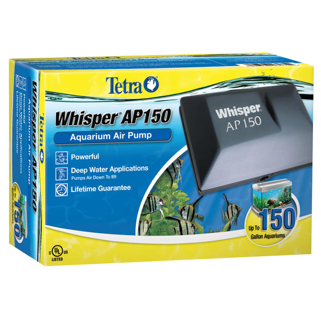 Whisper® 150 and 300 Aquarium Air Pumps