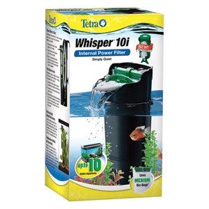 Take the constant noise out of owning a tank with Tetra's quiet Whisper Internal Aquarium Power Filters.