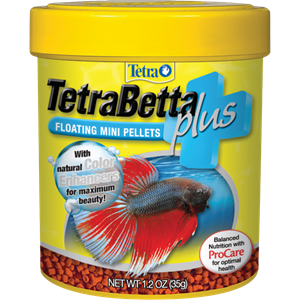 Tetrabetta plus floating mini pellets tetra aquarium for Betta fish pellets