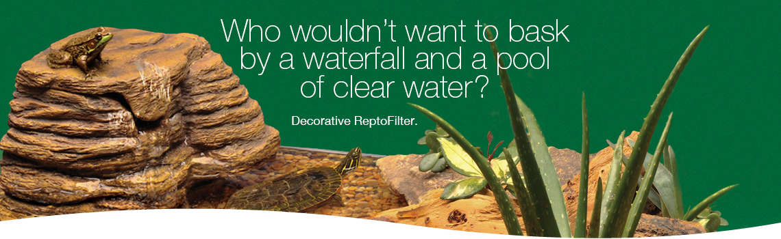 Tetrafauna Decorative ReptoFilter – What reptile or turtle wouldnt want to bask by a waterfalland a pool of clear water?