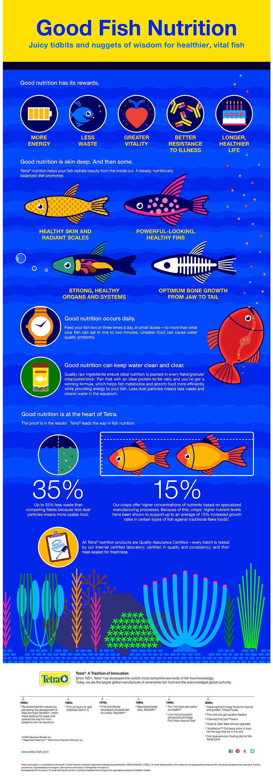 Good aquarium fish nutrition infographic tetra aquarium for Freshwater fish facts